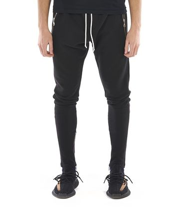 KHZARI Joggers & Sweatpants Street Style Plain Cotton Joggers & Sweatpants 2