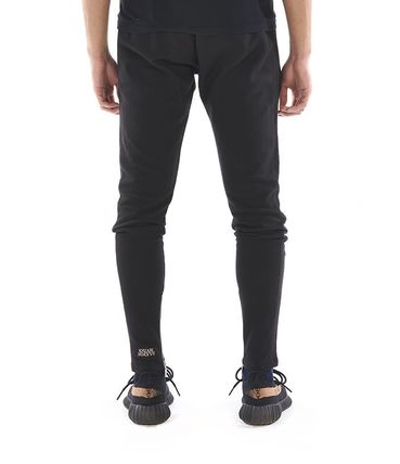 KHZARI Joggers & Sweatpants Street Style Plain Cotton Joggers & Sweatpants 3