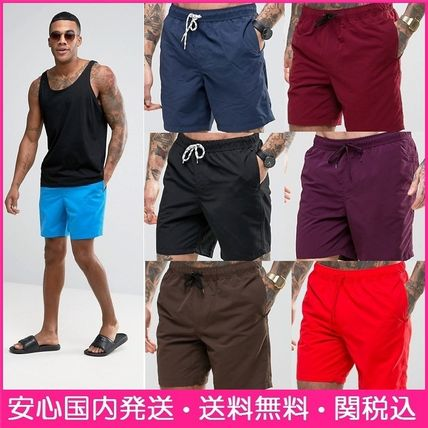 Middle length swimsuit men ' s swim shorts