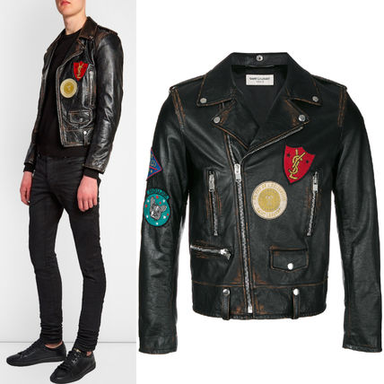 17-18 AW SLP 307 CLASSIC MULTI-PATCH MOTORCYCLE JACKET