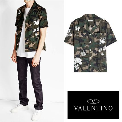 VALENTINO camouflage patterned printed short sleeve t-shirt