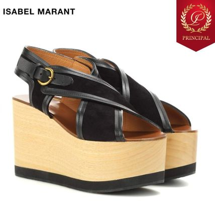 SALE Isabel Marant wood wedge sandals