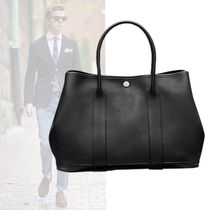 HERMES A4 Plain Leather Totes