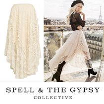 SPELL Flared Skirts Long Lace Elegant Style Maxi Skirts