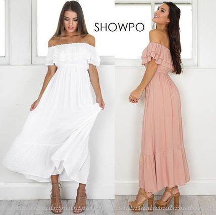 Casual Style Maxi Plain Long Dresses