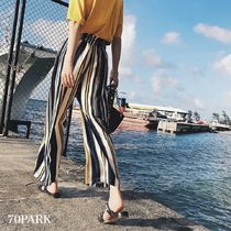 Stripes Casual Style Street Style Long Pants