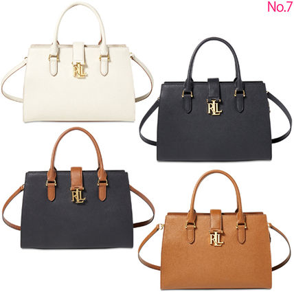 Ralph Lauren 2WAY Plain Leather Elegant Style Handbags