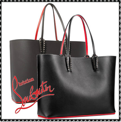 Christian Louboutin Calfskin Studded A4 Totes