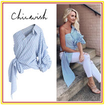 Chicwish Stripes Casual Style Medium Shirts & Blouses