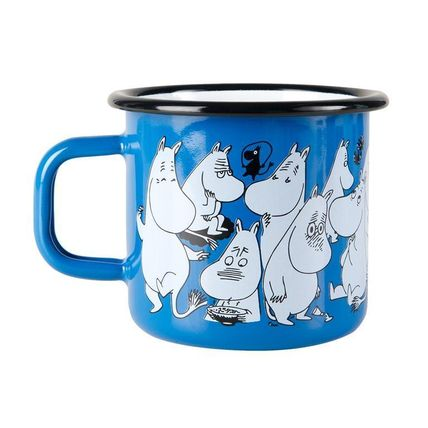 2017 1000 pieces limited edition blue Moomin enamel mug.