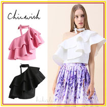 Chicwish Plain Medium Elegant Style Shirts & Blouses