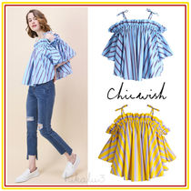 Chicwish Stripes Casual Style Cotton Medium