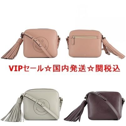 Anya Hindmarch Casual Style Plain Leather Shoulder Bags