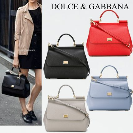Dolce & Gabbana SICILY Calfskin 2WAY Last One Handbags