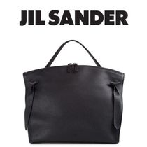 Jil Sander A4 Plain Leather Office Style Totes