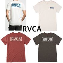 RVCA Street Style U-Neck Plain Cotton Short Sleeves T-Shirts