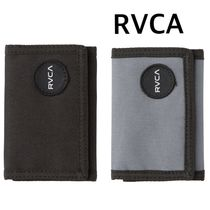 RVCA Nylon Street Style Plain Folding Wallets