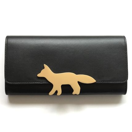 And Maison Kitsune Fox×Leather long wallet