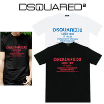 D SQUARED2 Street Style U-Neck Short Sleeves T-Shirts