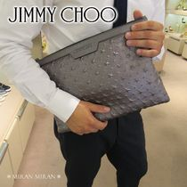 Jimmy Choo Star A4 Leather Clutches
