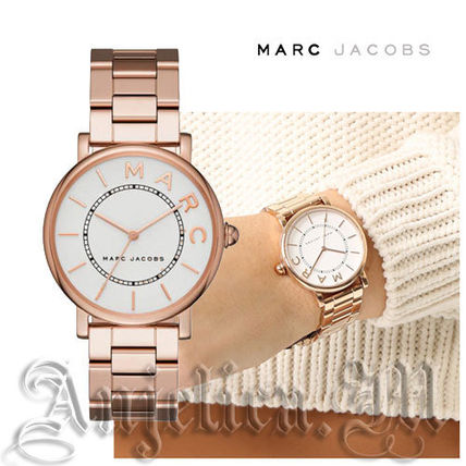 Round Quartz Watches Stainless Office Style Analog Watches