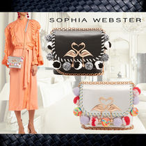 SOPHIA WEBSTER Chain Leather Shoulder Bags