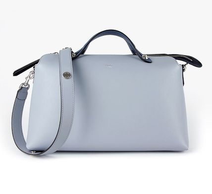 By The Way Large Shoulder Boston Bag / Light Blue