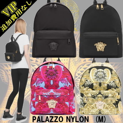 Unisex Nylon A4 2WAY Elegant Style Backpacks