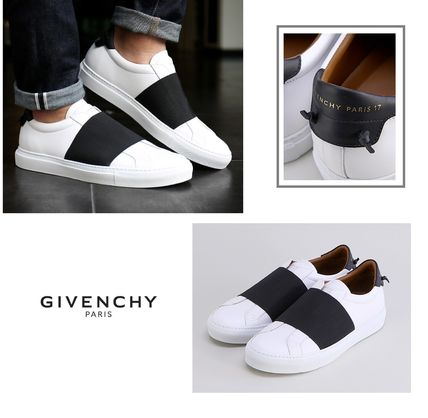 GIVENCHY 17FW contrast leather sneakers black
