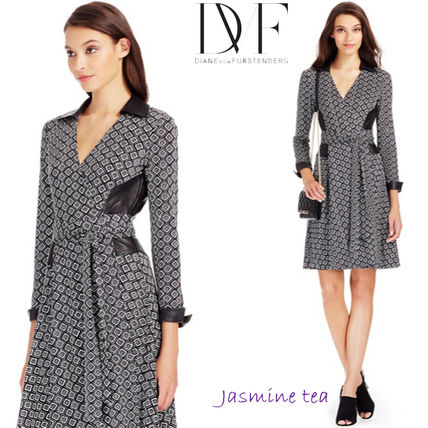 I'm happy very GOOD SALE DVF Rosie leather dress