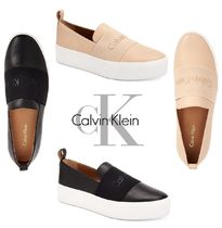Calvin Klein Platform Casual Style Leather Slip-On Shoes