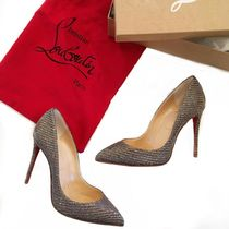 Christian Louboutin Chain Pin Heels Elegant Style Pointed Toe Pumps & Mules