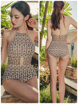 Monoglam Tropical Patterns Street Style Halter