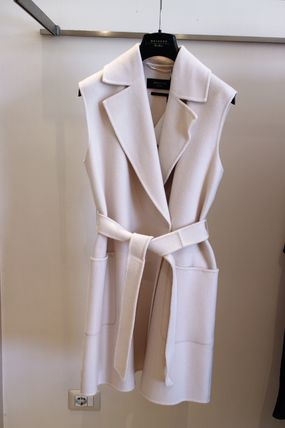 BONDENO S MAX MARA chic wool long best white