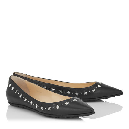 Jimmy Choo Silver Star studded x flat shoes