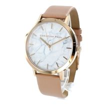 Christian Paul Casual Style Unisex Leather Round Quartz Watches