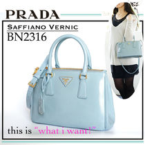 PRADA SAFFIANO VERNICE Saffiano 2WAY Plain Party Style Totes