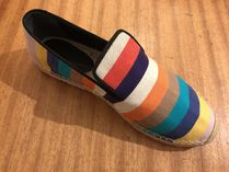 CELINE Stripes Casual Style Flats