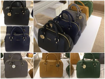 ELENA Small Leather Satchel 2 WAY