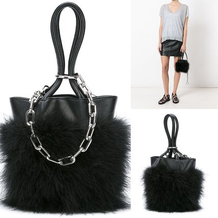 ALEXANDER WANG feather trim tote bag