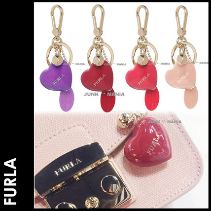 FURLA Heart Keychains & Bag Charms