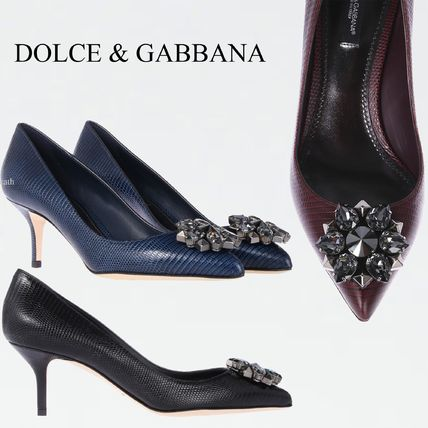 Dolce & Gabbana Bellucci pumps embossed leather CD0066A