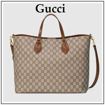 Gucci Totes Beige Soft Gg Supreme Tote With Removable Shoulder Strap