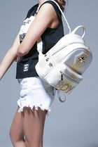 BOY LONDON Casual Style Faux Fur Studded Backpacks