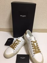 Saint Laurent Street Style Plain Other Animal Patterns Leather Sneakers