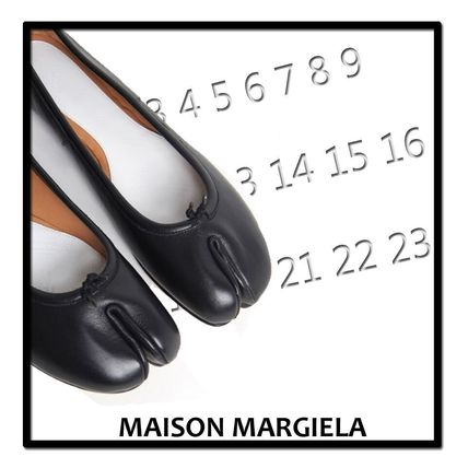 Maison Margiela Tabi leather flat shoes