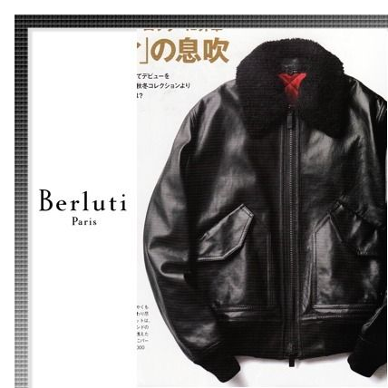 Magazines published 17-18AW Berluti bomber jacket