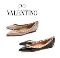 VALENTINO Studded Leather Slip-On Shoes