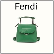 FENDI BACK TO SCHOOL Mini Backpack / Emerald Green