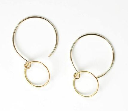 MARIDA Silver 14K Gold Earrings